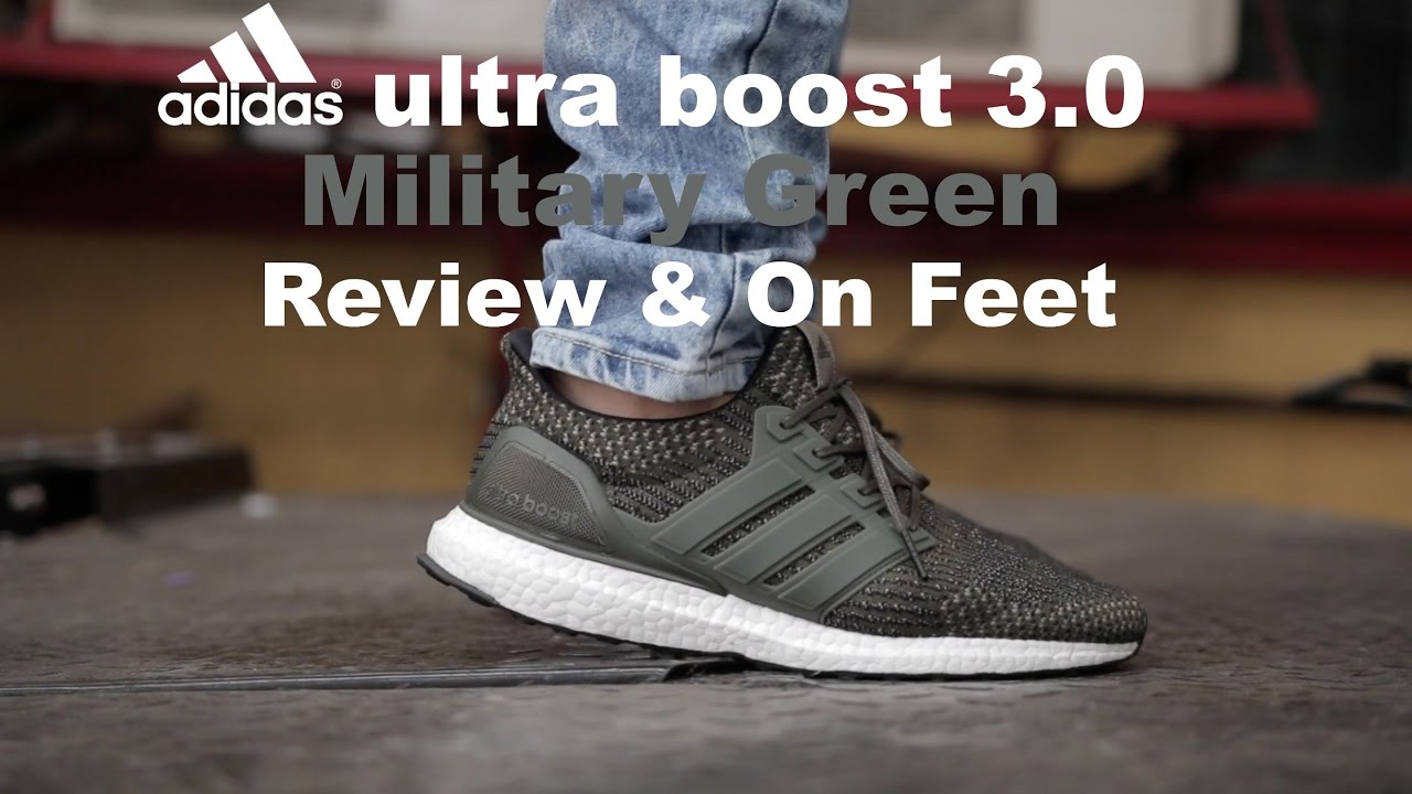 12e6ecf4603 adidas Ultra Boost 3.0 Military Green   Olive Review   On Feet - YouTube