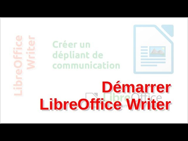 Un dépliant de communication avec LibreOffice Writer #2
