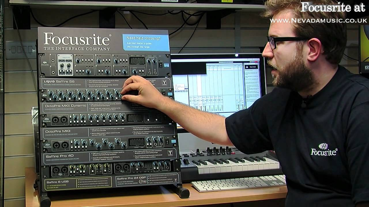 Focusrite Octopre Mkii Dynamic Mic Pre Amp Overview Preamplifier Pmt Youtube