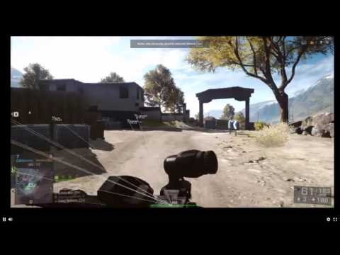 BAttlefield4 : Russian cheater with Aimlock and Wallhack