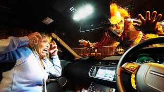 CREEPY CLOWN ATTACKS CAR PRANK (Gone WRONG) **SHE CRIED**