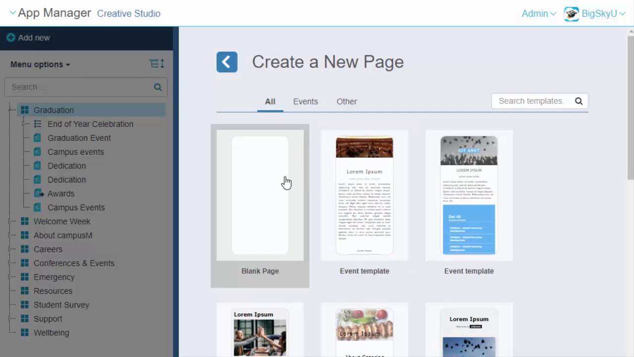 Creative Studio: How to Create a New Page - Ex Libris Knowledge Center