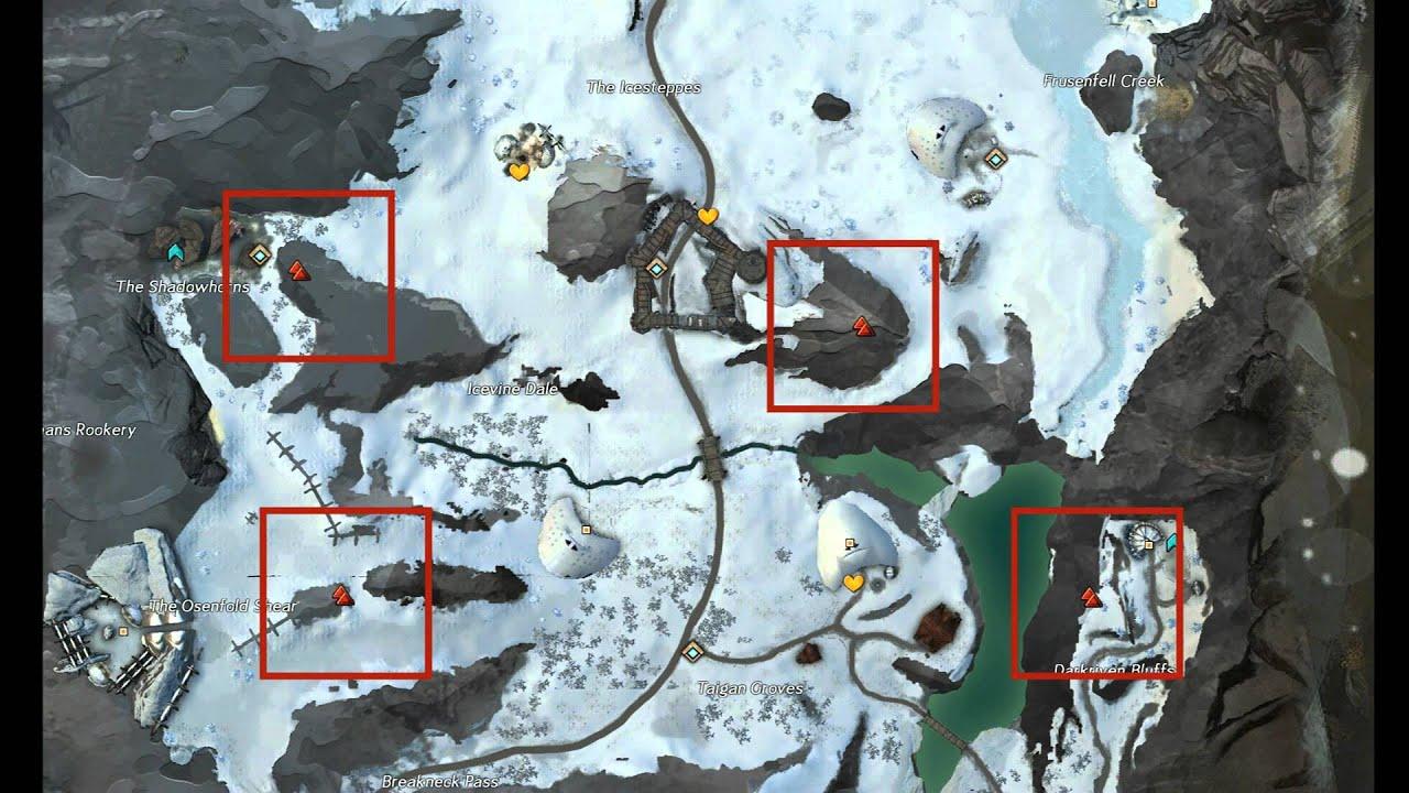 Wayfarer Foothills Map Guild Wars 2: Wayfarer Foothills Interactive Vista Map / Guide