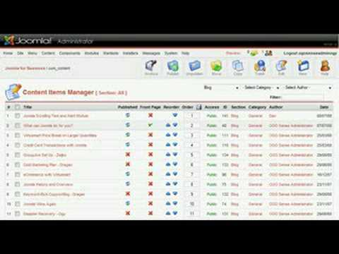 Joomla CMS Demo - How To Edit And Control Content