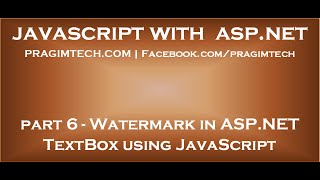 Watermark in ASP NET TextBox using JavaScript
