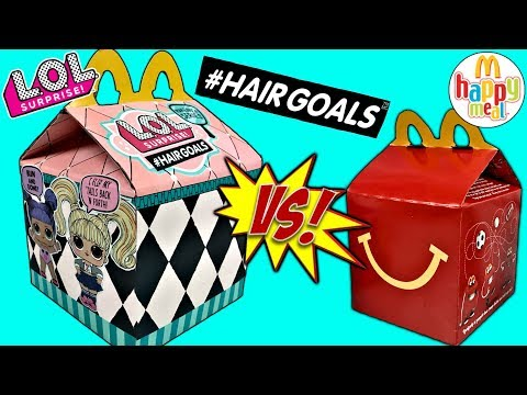LOL Surprise Dolls McDonalds Happy Meal LOL Dolls #hairgoals Series 5 Custom MC Donalds Happy Meal