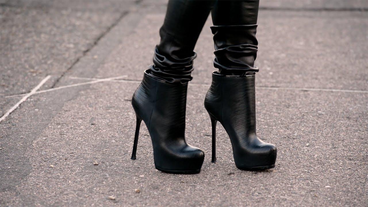 Yves Saint Laurent Tribtoo Ankle Boots Youtube