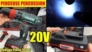 perceuse 20V lidl parkside percussion cordless impact drill akku-schlagbohr-schrauber by bricovideo.ovh