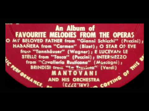 Mantovani, 1954: Operatic Arias from Puccini, Wagner, Bizet - Original Vinyl LP Recording