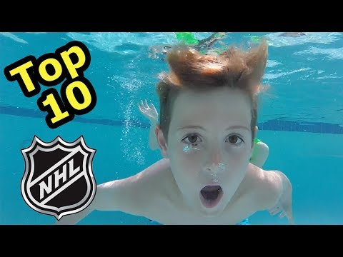 Kids HocKey  Top 10 NHL Hockey Players Underwater Game