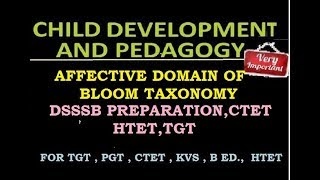 Child Development and Pedagogy - Affective domain of education
