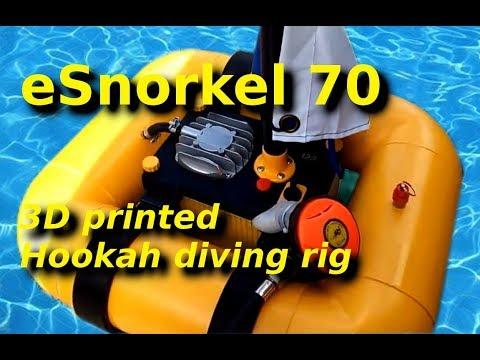 ESnorkel70 - 3D Printed Hookah Diving Rig - Dry Test