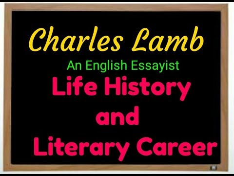 Examples Of English Essays Biography Of Charles Lamb An English Essayistin Hindi By Best Tutor English Narrative Essay Topics also Good Thesis Statement Examples For Essays Biography Of Charles Lamb An English Essayistin Hindi By Best  How To Write A Thesis Sentence For An Essay