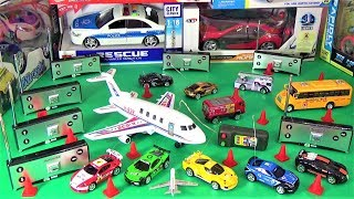 UNBOXING BEST TOYS: Remete control plane School bus a lot of RC cars toys gifts surprises for kids