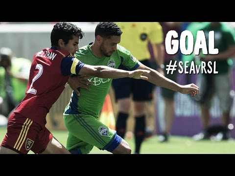 GOAL: Lamar Neagle goes top corner from outside the box | Seattle Sounders v Real Salt Lake