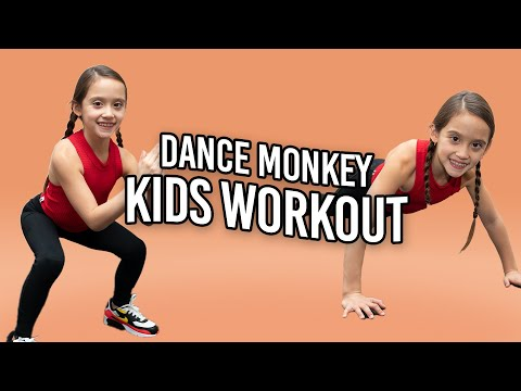 8 Year Old Leads TABATA Workout For Kids 💥