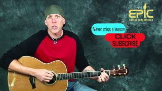 Easy Beginner acoustic song guitar lesson learn Bob Seager Against The Wind chords strum patterns
