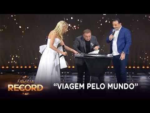 """Gugu ganha """"viagem pelo mundo"""" de Reinaldo Gottino no Família Record"""