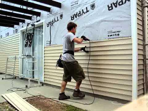 Video do rafael da eco logica colocando revestimento na parede externa youtube - Revestir pared exterior ...
