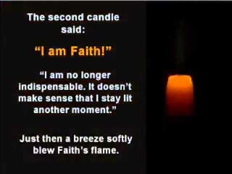 Amazing story of four candles-LOVE, PEACE, FAITH & HOPE