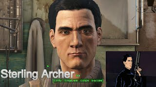 Fallout 4 Sterling Archer Character Creation Cosplay Idea Sniper / Pistols.