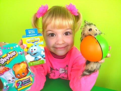 Смешарики Шопкинс Распаковка игрушек с сюрпризом Smeshariki Shopkins Unpacking toys with surprise