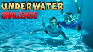 Twins Underwater Challenge - Don't Choose the Wrong Hoop!