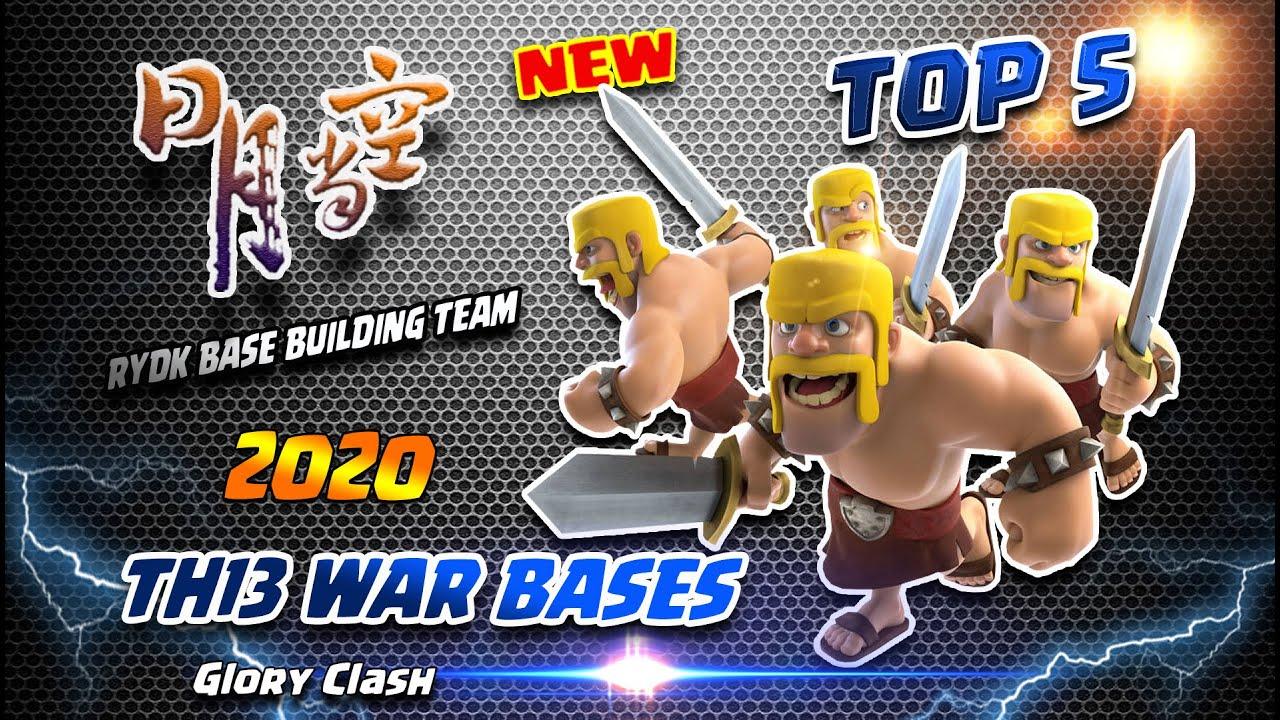 *Unique* RYDK Th13 War Bases TOP 5 / RiYueDangKong Base Building /Anti 2-3 Star/Clash of clans #557