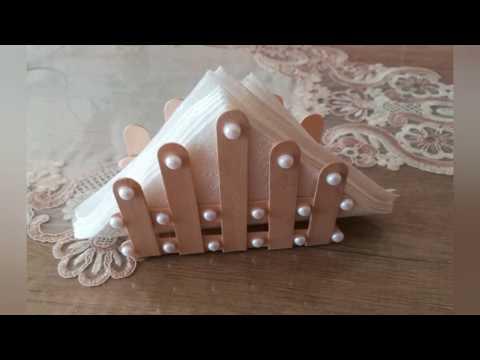 DIY: Dil çubuklarından inanılmazzz pratik peçetelik yapımı