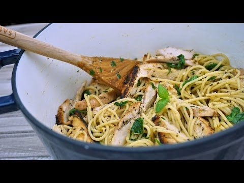 Lemon Garlic Chicken & Herbed Pasta Recipe - What's For Din'? - Courtney Budzyn - Recipe 103