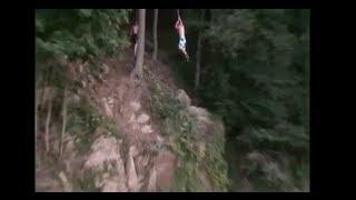 rope swing cliff jump at blue marsh lake