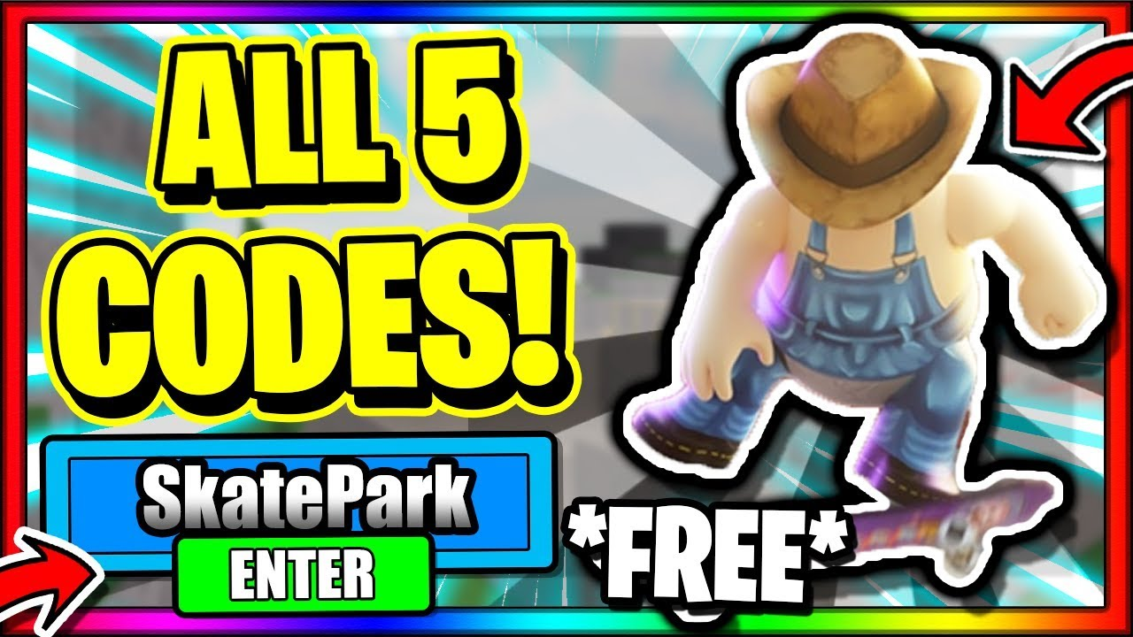 All 5 New Secret Op Working Codes Roblox Skate Park Youtube