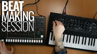Roland TR8S + Korg Minilogue XD - Making a hiphop beat! #TSR19 Video
