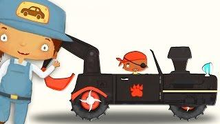 Traktor für Kinder. Cartoon über Traktor Kleine Autos Trickfilm auto. Trickfilme für Kinder deutsch.