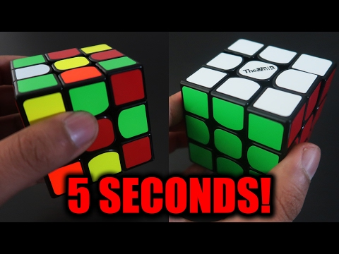 How to Solve a Rubik's Cube in 5 Seconds! (FAST)