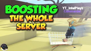 I BOOSTED THE WHOLE ROBLOX SERVER! | Yard Work Simulator
