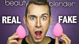 REAL v.s. FAKE Beauty Blenders! | PopLuxe