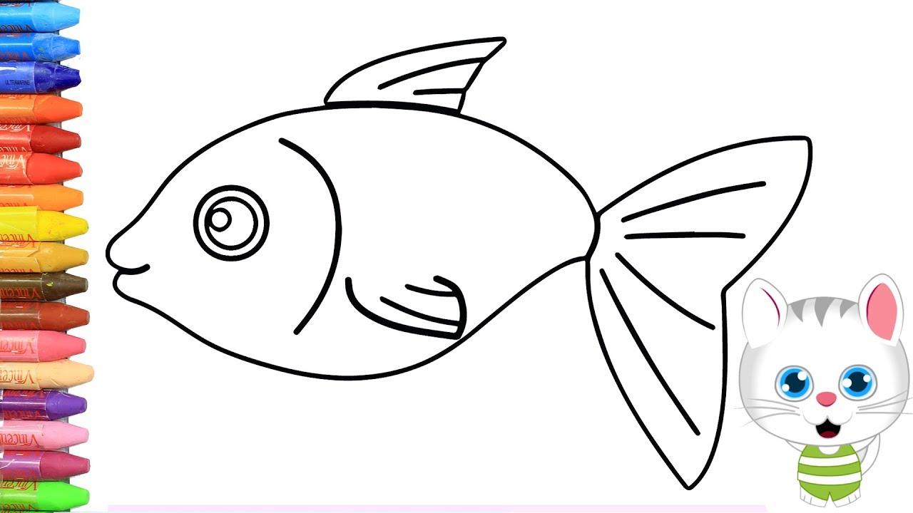 Wie Zeichne Man Bunter Fisch Fisch Malerei Fisch Malvorlagen