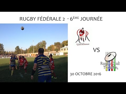 Rugby F2 6e journée - SCR vs RCT 30.10.2016