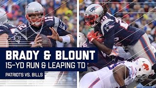 Tom Brady Blows By Defenders for a 1st Down & Blount's Leaping TD! | Patriots vs. Bills | NFL