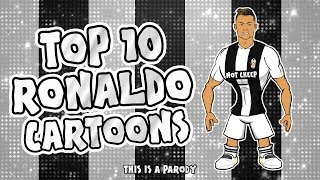 💪🏼RONALDO: Top 10 Cartoons💪🏼 (Parody songs, goal, highlights montage)