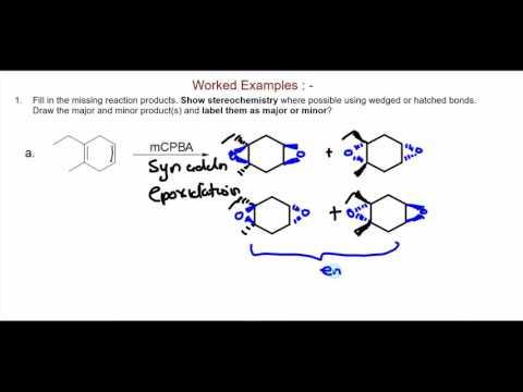 Epoxidation of alkenes with mCPBA (metachloroperoxybenzoic acid)