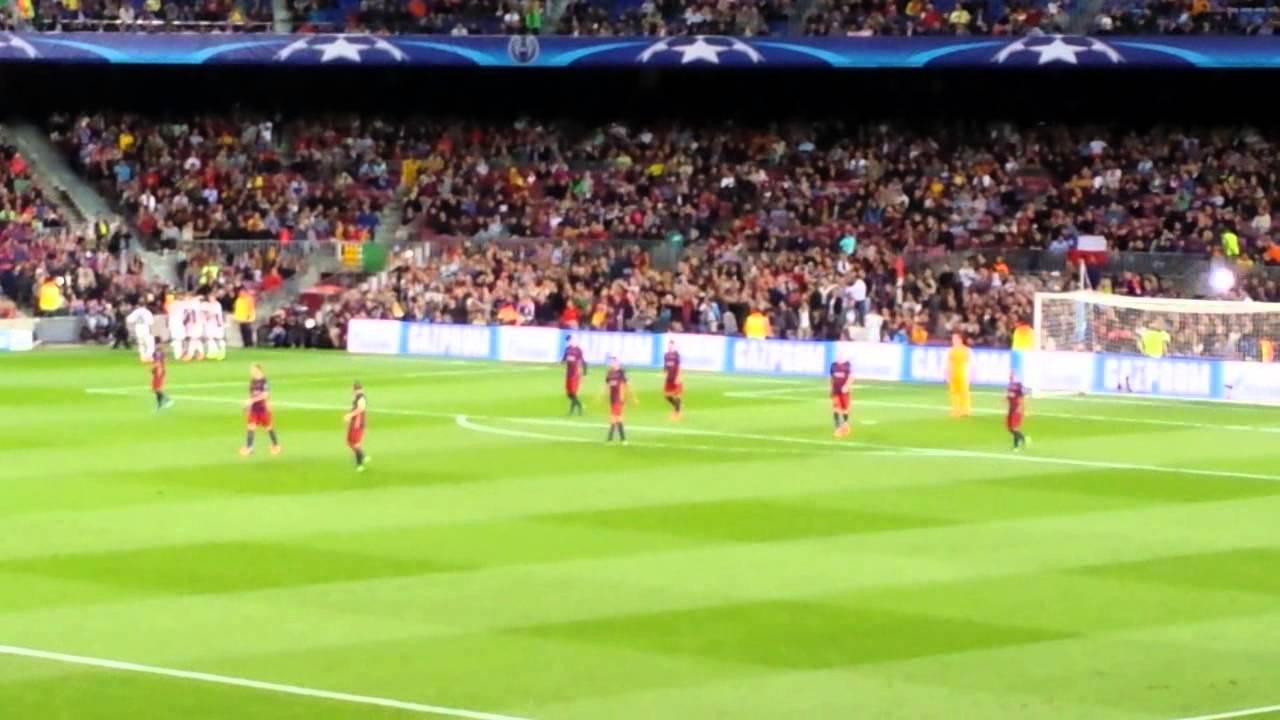 FC Barcellona-Bayer Leverkusen 2-1 Goal Papadopoulos