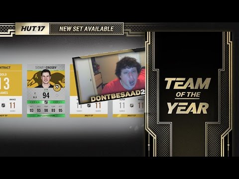 LOOK AT TEAM OF THE YEAR SETS! I RANDOMLY PULLED CROSBY! | NHL 17 Hockey Ultimate Team