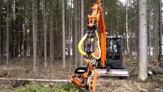 Light effective excavator harvester.mp4