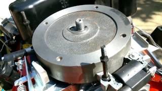 Calage allumage tondeuse - remplacement clavette volant magnétique