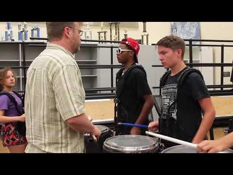 Columbia students practice drum line ahead of Japan event