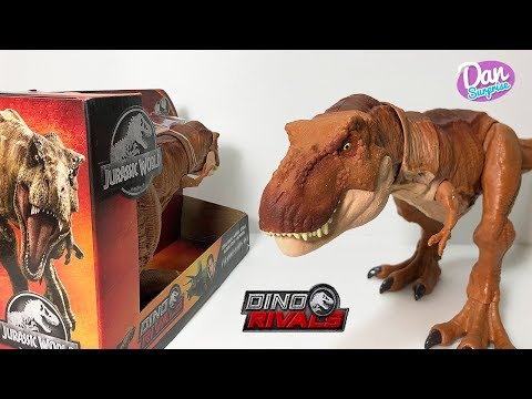 New Extreme Chompin T-Rex! Jurassic World Dino Rivals Action Figure