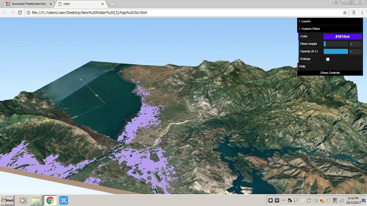 Qgis 3D terrain model