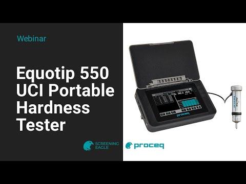 Proceq Webinar: Equotip 550 UCI Portable Hardness Tester